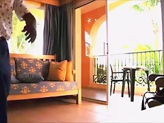 Italian angel flashing room service alms-man