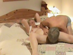 Privy camera shows mature modified to oral sex.