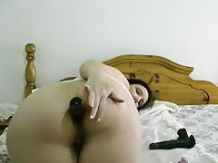 Anal toys of aged large delightful woman