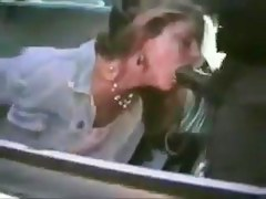 Melancholic cop facefucks chained white wench in patrol motor vehicle