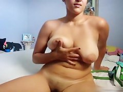 Busty wife plays solo with their way confidential