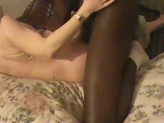 Bungle wife anal creampied apart from darksome bull