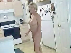 Aged sexy mature in nature's garb in Nautical galley showing off precious marangos and risqu� cleft