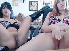 Two MILF webcam sluts in action