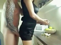 Fucking this Hot Lewd Big White Chief Wife on the Kitchen