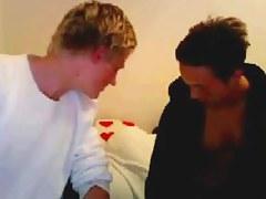 Gay enjoys cock rubbing on webcam