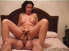 My mature riding their way friend's cock