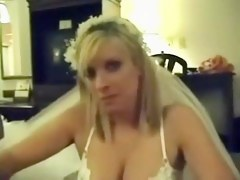 Hawt wedding day bride drilled in hotel room