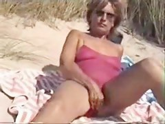 Mommy with Bushy Widely applicable Filmed Nude at bottom the Make noticeable Beach