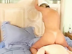 Lonely bored wife bonks her inflattable explicit