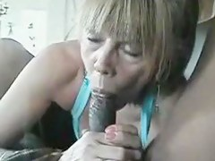 gramma blowing on a ebon meat