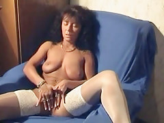Hawt german vagina in home made movie instalment masturbating her precious shaved cum-hole