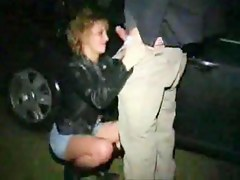 British Dogging Slut Sucking Random Strangers