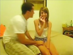 Sexy teen slut enjoys cock