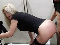 Pick up fuck near blonde in hawt lingerie