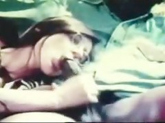 Vintage Interracial Sexual congress Clip Of White Snatch With Melancholic Knob