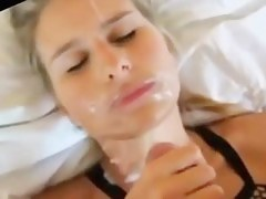Hot blonde girlfriend homemade cumshots compilation