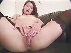 Korean Cutie plays apropos her Cunt b4 a Facial