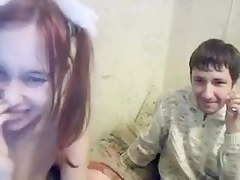 Taking two fruitful dongs on webcam