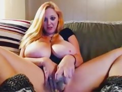 cam - giant tit blond plays with latitudinarian