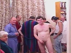Ten old boyz fuck a younger blond close by anal