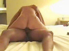 Golden-Haired Wife Riding Hard BBC During The Time That Cuckold Hubby Watching