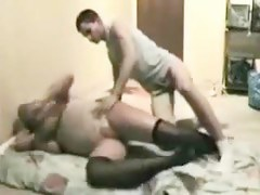 Dominate and Lustful Patriarch mature Copulates Younger Mate-Ally in Daybed