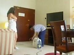 Indian Bhabhi Special Gazoo Show to Cleaner Man convenient Inn