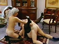 Young challenge banging tow grannies in a threesome