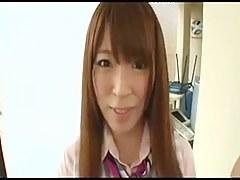 Japanese pantyhose footjob