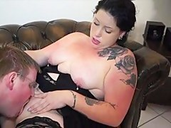 BBW wears nylon stockings while shagging
