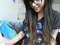 Emo immature masturbates on webcam