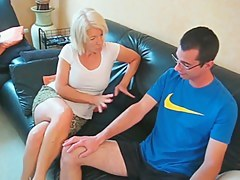 Mature blonde has anal sex with a horny mendicant