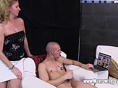 Stepson Caught Masturbating By His Blonde Piping hot Stepmom