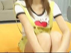 Serious dildo play on Nagisa Aibas tight pussy