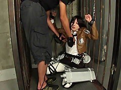 mikasa ackerman cosplay anal pt.1