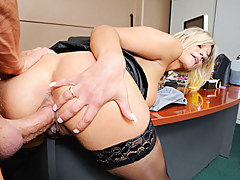Klarisa Leone in Sexy Secretary With Lustful Favors