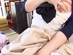 Mako Oda hot milf is caught while masturbating hot Asian pussy