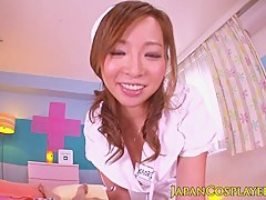 Japanese cosplay nurse Kaori doggystyle fucked