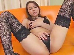Japanese Teen Brunette And Two Cock