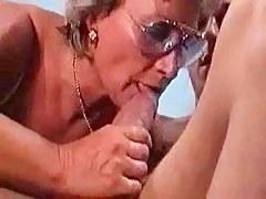 German Granny Fucks And Sucks Her Wretch