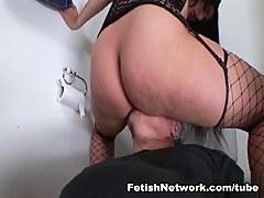 EliteSmothering Video: Bathroom recreation with a big Latino booty