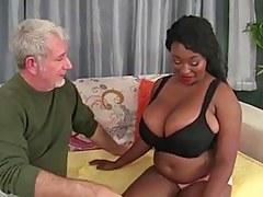 BBW Beamy Boob Sista'  fuck n' drag inflate Old Lacklustre boy
