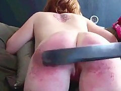 Slave sex video of a big booty spanked hard