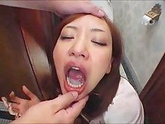 deepthroat down the bathroom