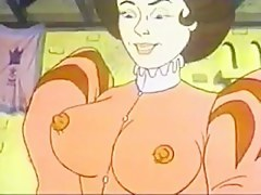 Breasty bimbos having lusty cartoon sex