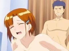 Busty slut fucking in anime porn videotape