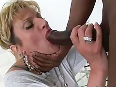 Breasty mature bimbo sucks a dick of a unscrupulous defy