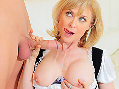 Nina Hartley Dusts Off His Cock With Will not hear of Pussy
