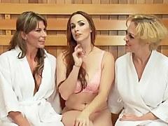 Lesbian anal orgy